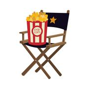 Pop corn chair cinema movie design Piirros