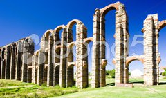 Aqueduct of Los Milagros, Merida, Badajoz Province, Extremadura, Spain Stock Photos