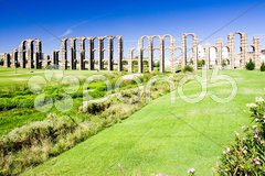 Aqueduct of Los Milagros, Merida, Badajoz Province, Extremadura, Spain Stock Photos