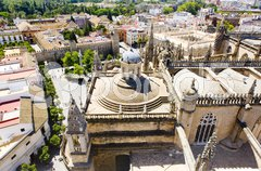 Cathedral of Seville view from La Giralda, Andalusia, Spain Stock Photos