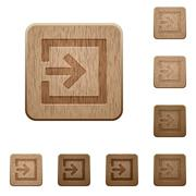 Import wooden buttons Stock Illustration