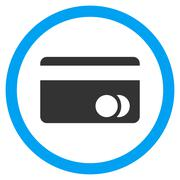 Banking Card Flat Rounded Vector Icon Stock Illustration