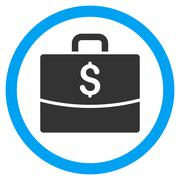 Business Case Flat Rounded Vector Icon Stock Illustration