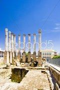 Roman temple, Cordoba, Andalusia, Spain Stock Photos