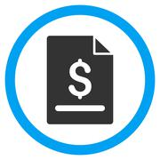 Invoice Page Flat Rounded Vector Icon Stock Illustration