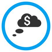 Richness Dream Clouds Flat Rounded Vector Icon Stock Illustration