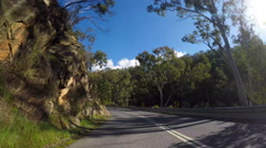 Driving along Gorge Road, The Gorge Scenic Drive Stock Footage
