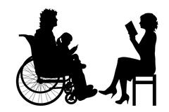 Vector silhouette of family. Stock Illustration