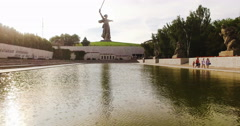 Volgograd. Mamayev Kurgan.The Motherland Stock Footage