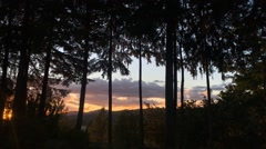Sunset Time Lapse in Oregon Stock Footage