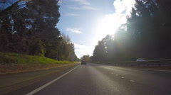 Vehicle POV, driving along the freeway, timelapse. Stock Footage