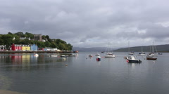 Tobermory harbour, Isle of Mull, Scotland Stock Footage