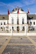 Presidential residence in Grassalkovich Palace on Hodzovo Square, Bratislava, Sl Stock Photos