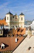 Trinity Church - view from Michael''s Tower, Bratislava, Slovakia Stock Photos