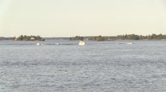 Boats on the St. Lawrence river Stock Footage