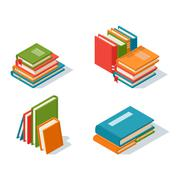 Isometric book icon vector illustration Stock Illustration