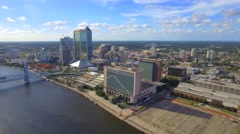 Downtown Jacksonville aerial video Stock Footage