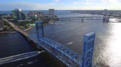 Hart Bridge Expressway aerial video Stock Footage