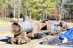 Wiscasset, Waterville   Farmington Railway, Maine, USA Stock Photos