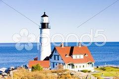 Portland Head Lighthouse, Maine, USA Stock Photos