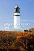 Cape Elizabeth Lighthouse, Maine, USA Stock Photos