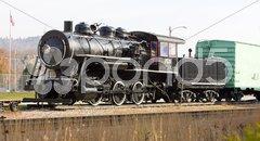 Steam locomotive in Railroad Museum, Gorham, New Hampshire, USA Stock Photos