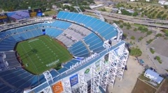 Aerial drone stock video Everbank Field Jacksonville Stock Footage