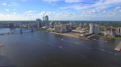Downtown Jacksonville Florida Stock Footage