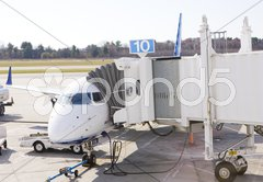 Airport in Portland, Maine, USA Stock Photos