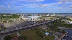 Aerial drone footage Everbank Field Jacksonville Stock Footage