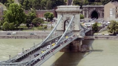 Chain bridge and the tunnel Stock Footage