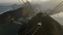 Sugarloaf mountain with cable car approaching the top 4k Stock Footage