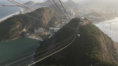 Time Lapse of Cable car on Sugarloaf Mountain 4k Stock Footage