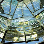 Lighthouse's interior, Fresnel lens, Cayo Pared Stock Photos