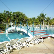 Hotel's swimming pool, Cayo Coco, Cuba Stock Photos