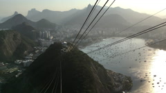 People taking Gondola lift down Sugarloaf 4k Stock Footage
