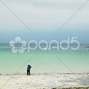 Fisherman, St. John's Point, County Donegal, Ireland Stock Photos