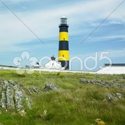 Lighthouse, St. John's Point, County Down, Northern Ireland Stock Photos