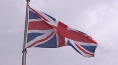 English flag Slow motion  Stock Footage