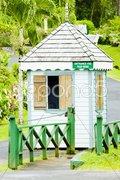 Entrance to Grand Etang National Park, Grenada Stock Photos