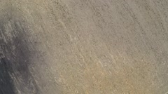 Dry ground. Flying over the tillage field. Dead ground Stock Footage