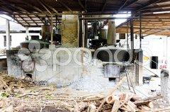River Antoine Rum Distillery, Grenada Stock Photos