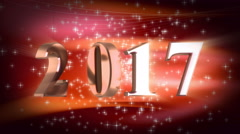 New year numbers with shine  Stock Footage