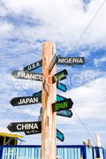 Guidepost, North Point, Barbados Stock Photos