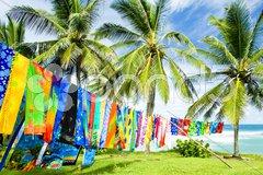 Typical fabrics, Bathsheba, East coast of Barbados, Caribbean Stock Photos