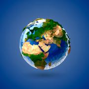 Vector low poly earth globe illustration Piirros