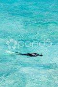 Snorkeling, Southern coast of Barbados, Caribbean Stock Photos