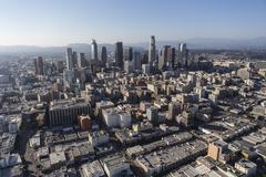 Los Angeles Downtown Architecture Aerial Stock Photos