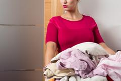 Perfect housewife and her duties Stock Photos