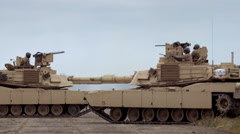 Close-up of military vehicles Stock Footage